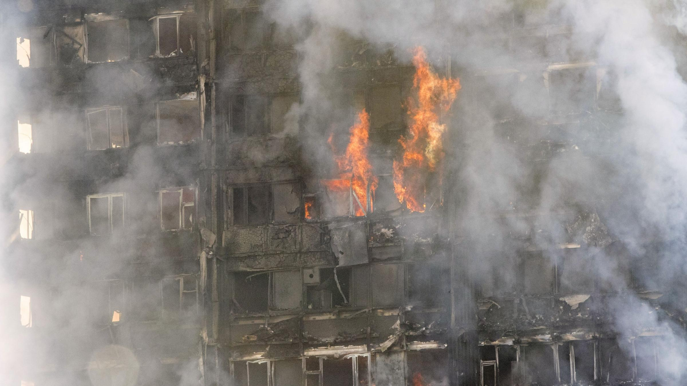 Structural engineer monitoring stability of London tower block hit by fire
