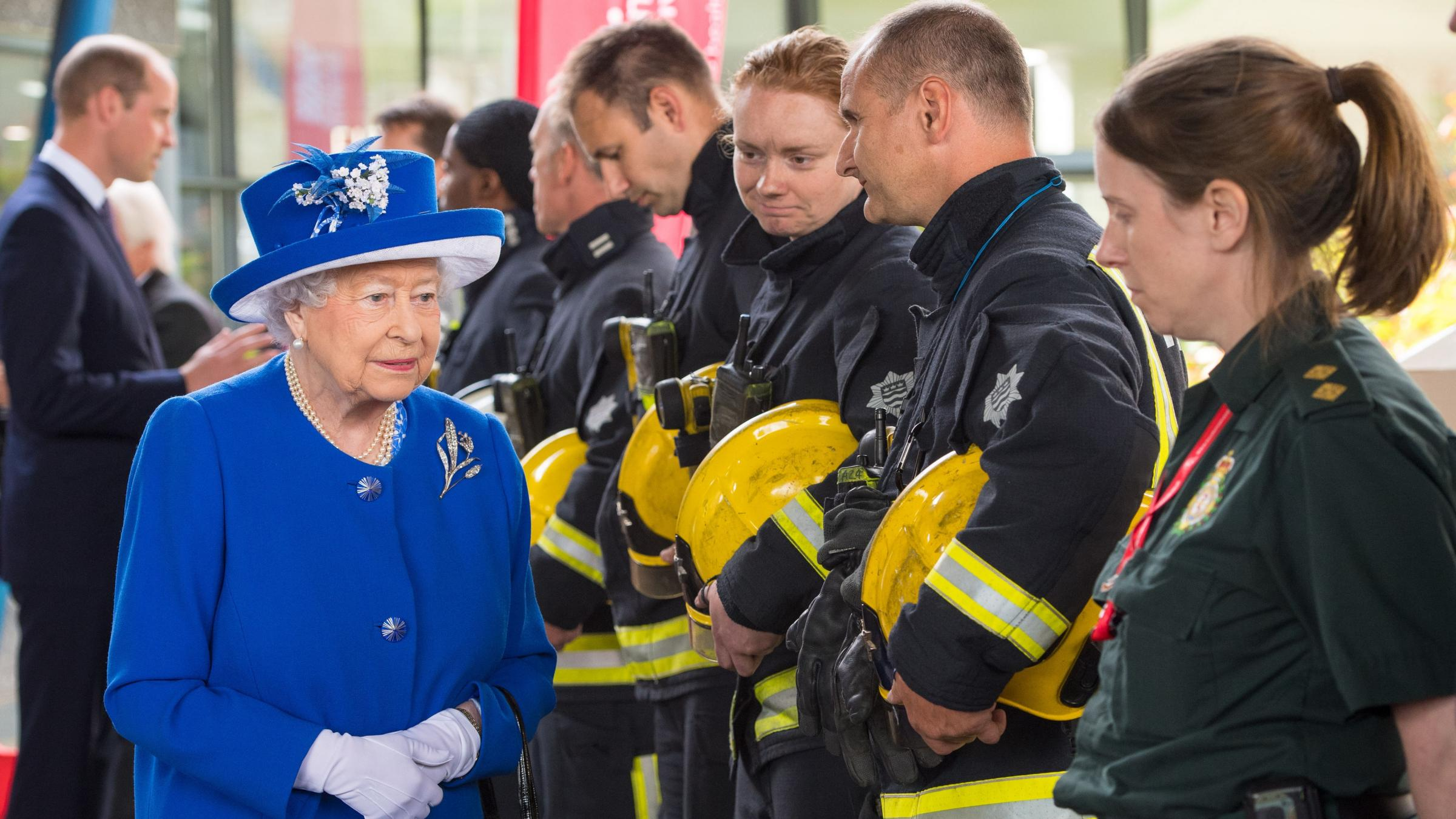 The Queen hold's a minute's silence for London's Grenfell Tower fire victims